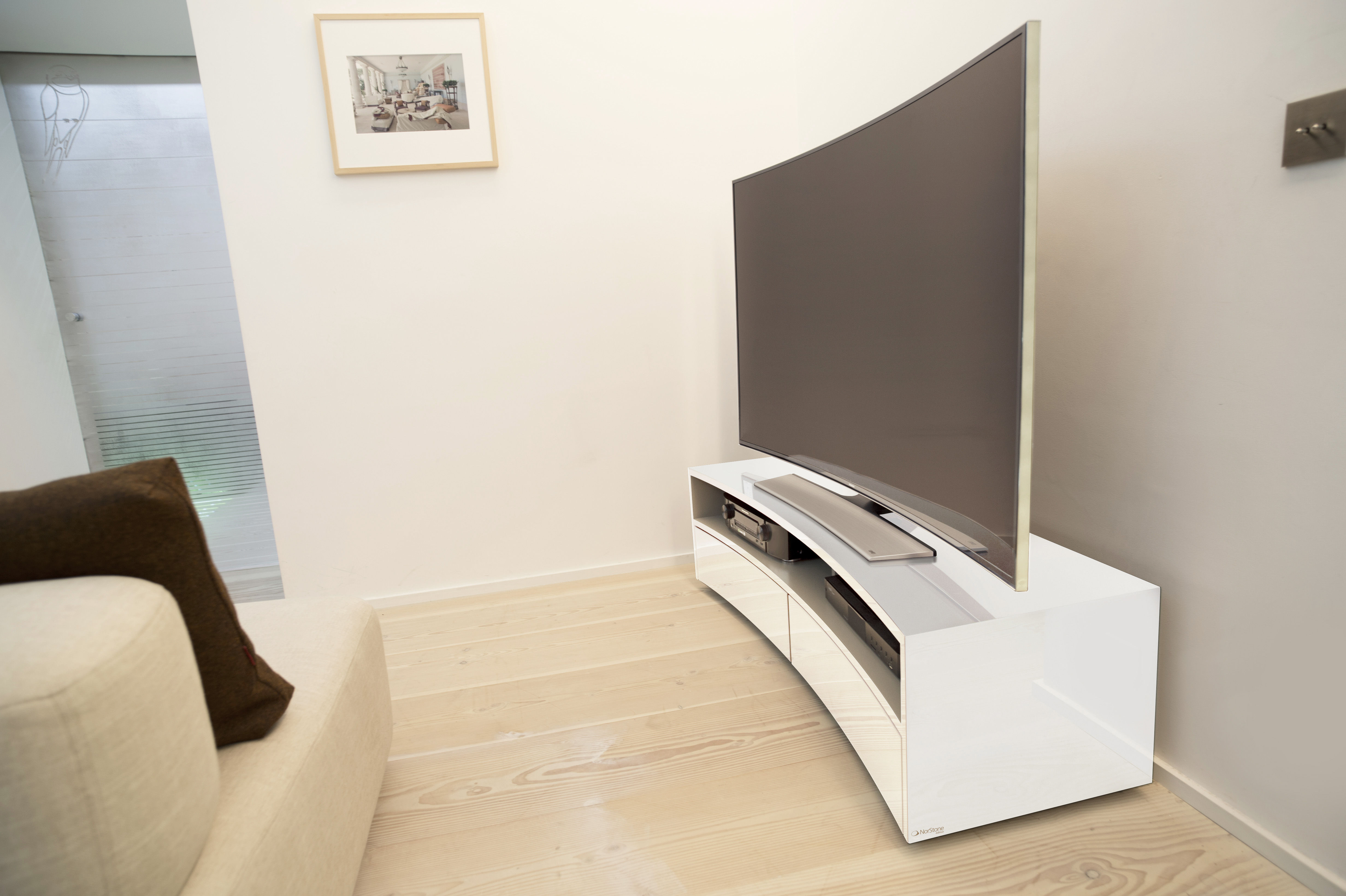 Valmy Television Table For Curved Screen W 150 Cm Black By  # Meuble Tv Curved
