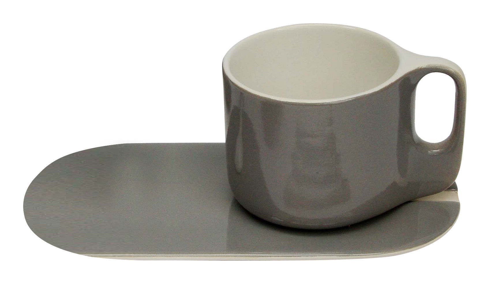 ti coffee cup with saucer grey white by sentou edition. Black Bedroom Furniture Sets. Home Design Ideas