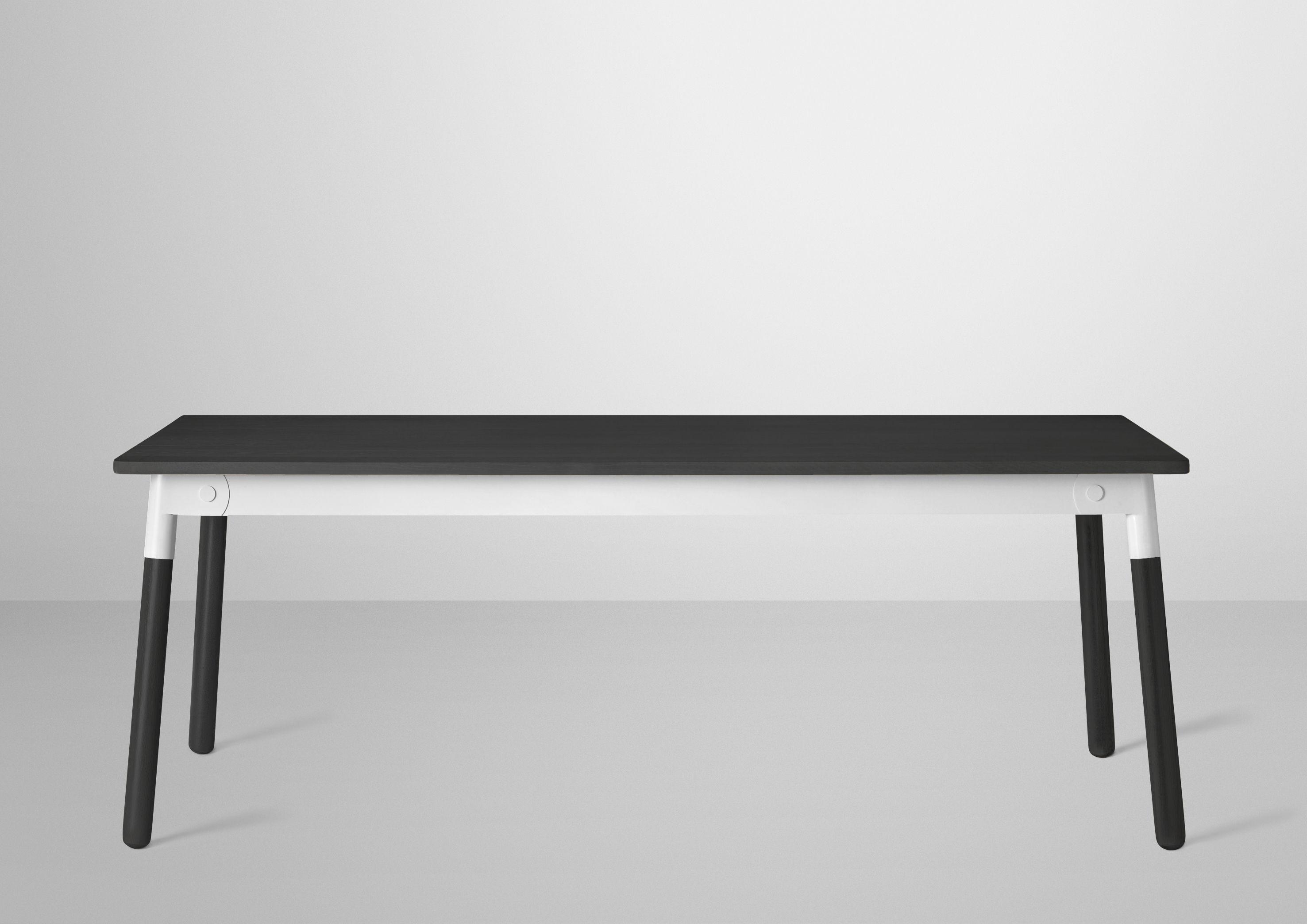 table adaptable noir 200 x 90 cm noir jonction blanche muuto. Black Bedroom Furniture Sets. Home Design Ideas