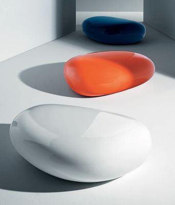 Pouf koishi table basse blanc driade - Table basse luxe design ...