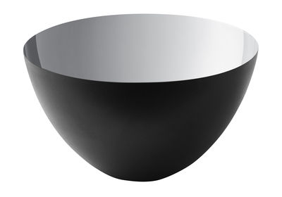 Saladier Krenit / Ø 25 x H 14 cm - Acier - Normann Copenhagen noir,argent en métal