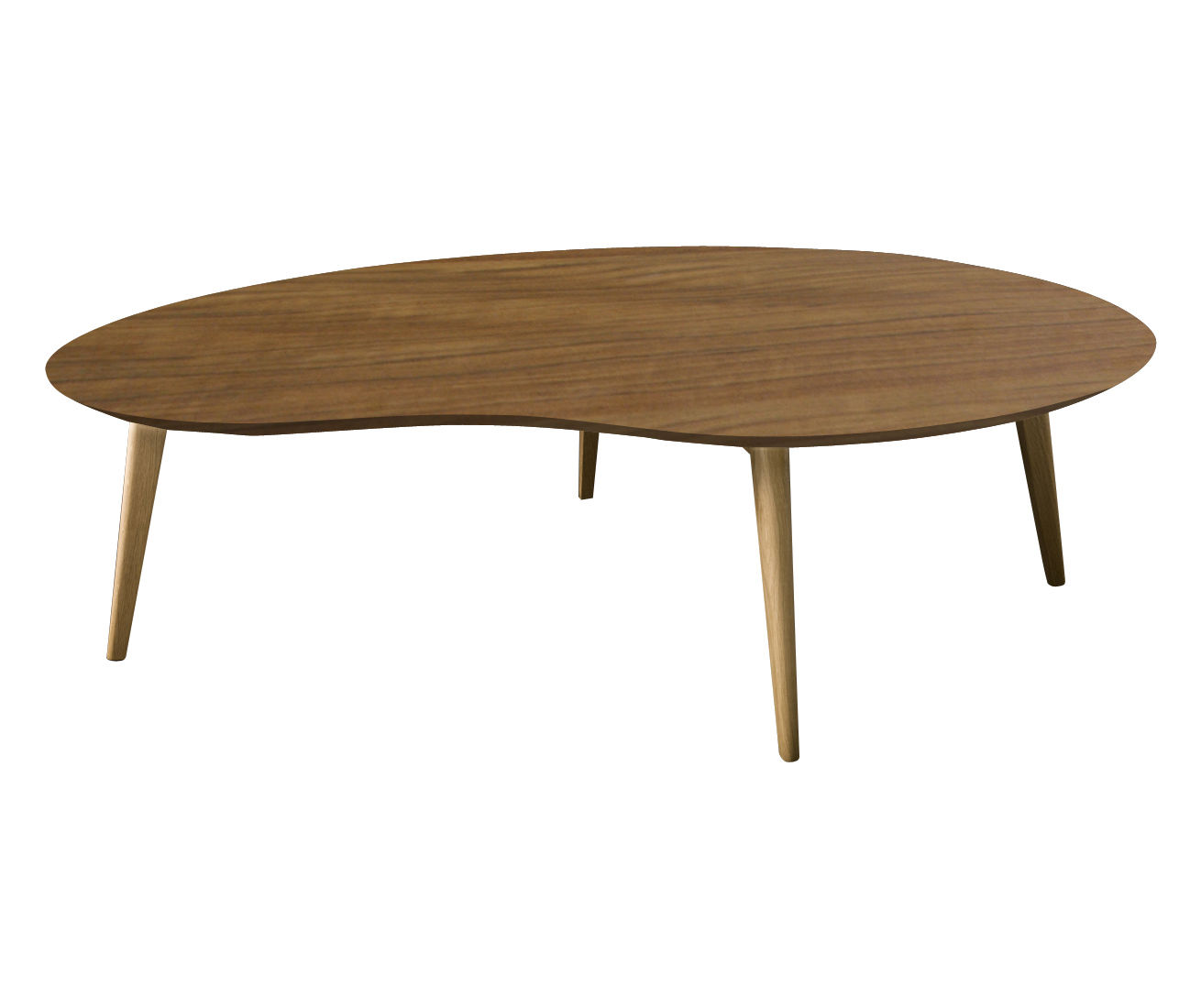 Table basse lalinde xxl haricot l 130cm pieds bois for Table basse xxl