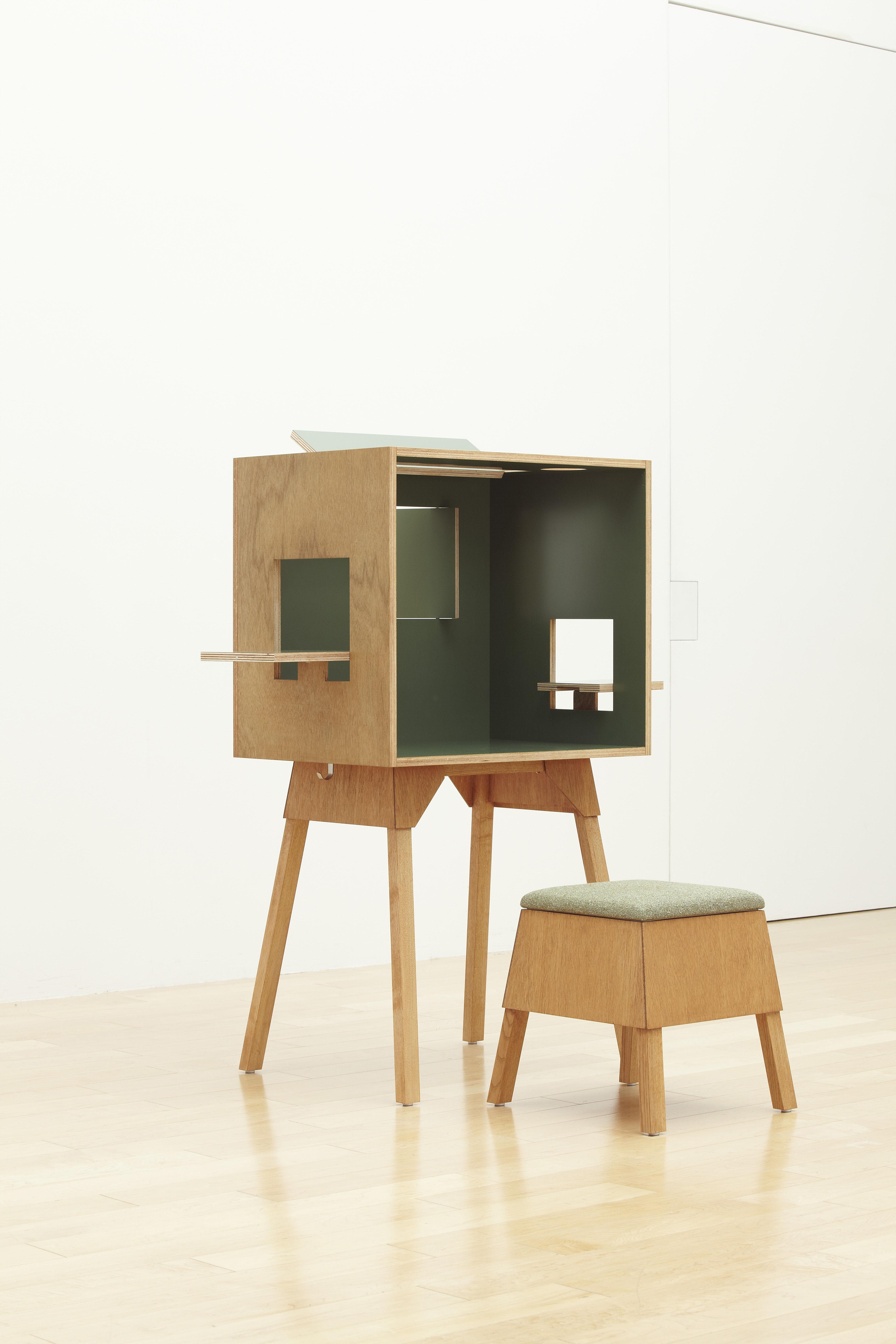 Bureau koloro l 73 cm vert fonc bois clair ichiro - Bureau bois fonce ...