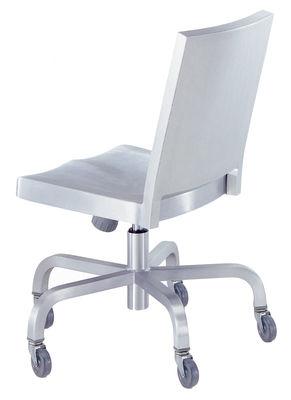 Foto Sedia a rotelle Hudson - Rotelle di Emeco - Alluminio opaco - Metallo