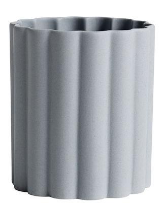 Pot Iris / Porcellana - Fatto a mano - Hay gris en céramique