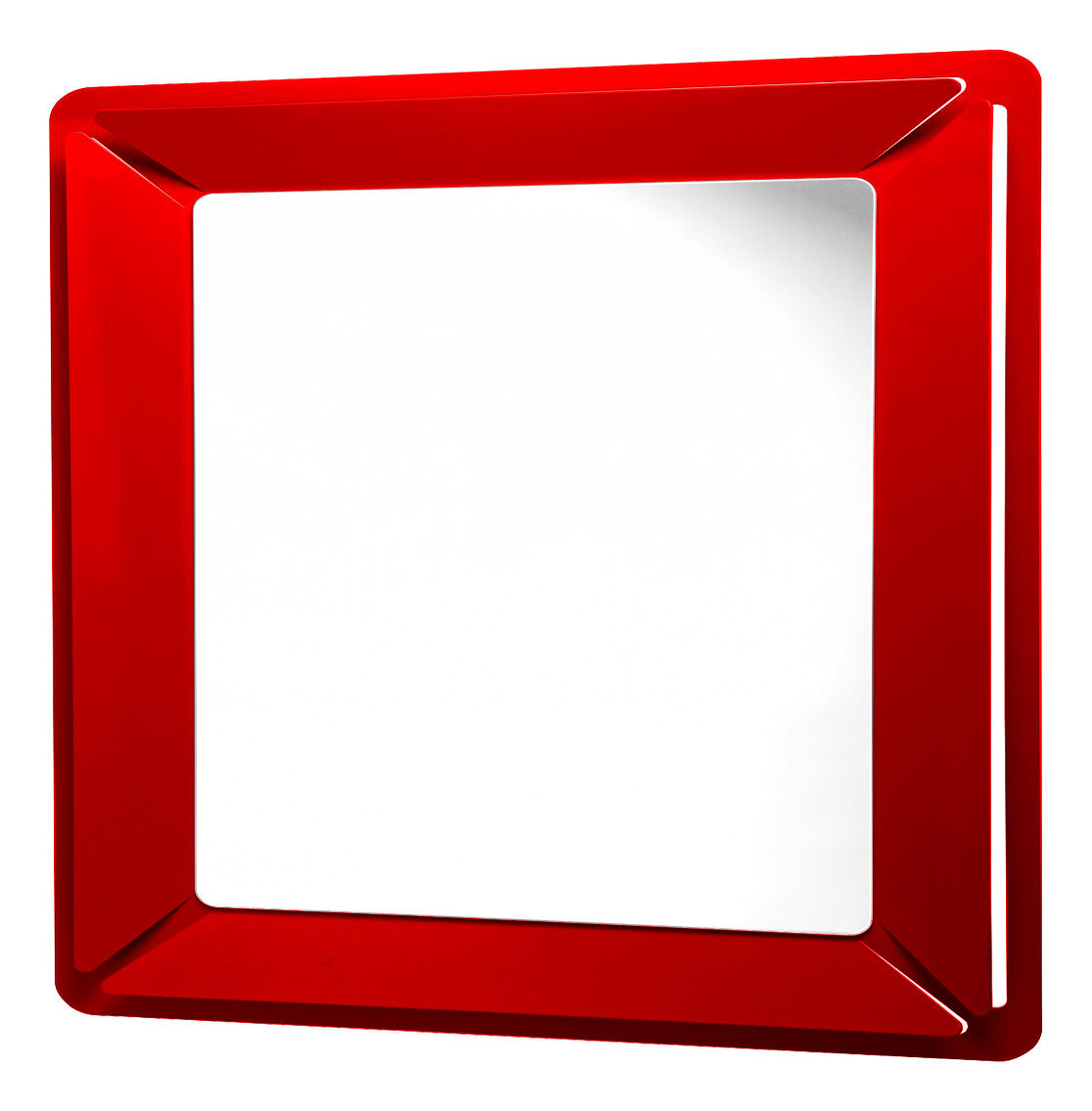Miroir see me square 90 x 90 cm rouge officina nove for Miroir 90 90