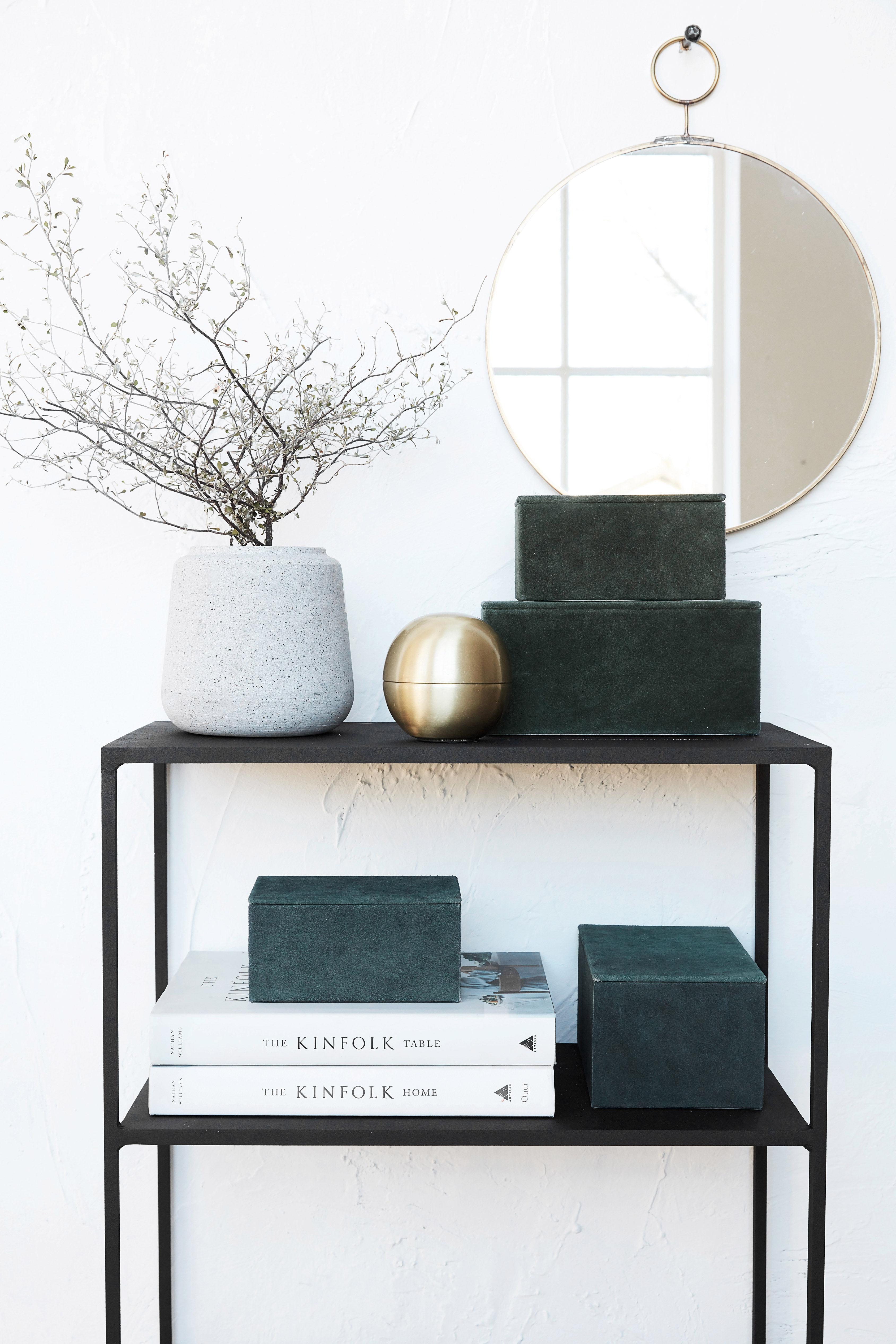 suede schachtel wildlederimitat 2er set blau by house doctor made in design. Black Bedroom Furniture Sets. Home Design Ideas