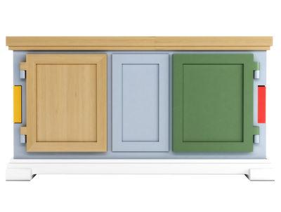 Mobilier - Commodes, buffets & armoires - Buffet Paper Patchwork - Moooi - Multicolore - Bois, Carton, Papier