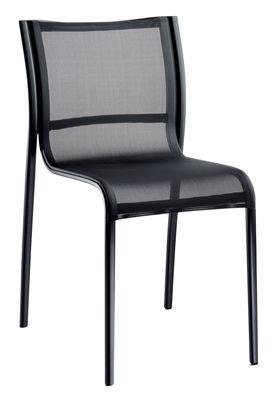 Arredamento - Sedie  - Sedia impilabile Paso Doble di Magis - Nero / struttura nera - alluminio verniciato, Tela