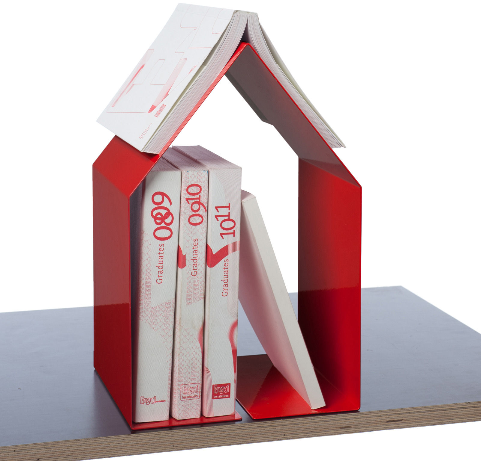 Domus book end red by pa design for Domus book collection