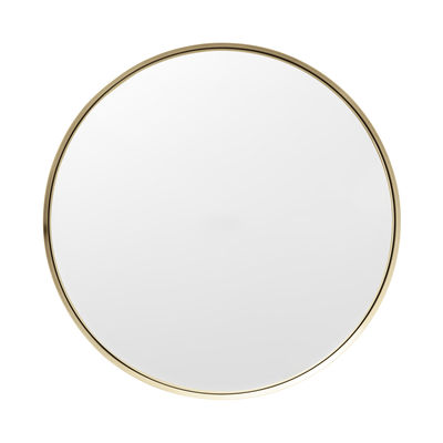 Darkly medium wall mirror brass 40 cm brass by menu for Miroir 90 x 40