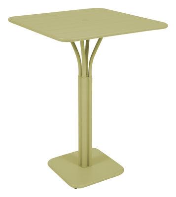 Foto Tavolo bar alto Luxembourg - 80 x 80 x A 105 cm di Fermob - Tiglio - Metallo