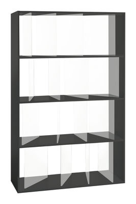 Libreria Sundial - L 100 x H 165 cm di Kartell - Nero,Trasparente - Materiale plastico