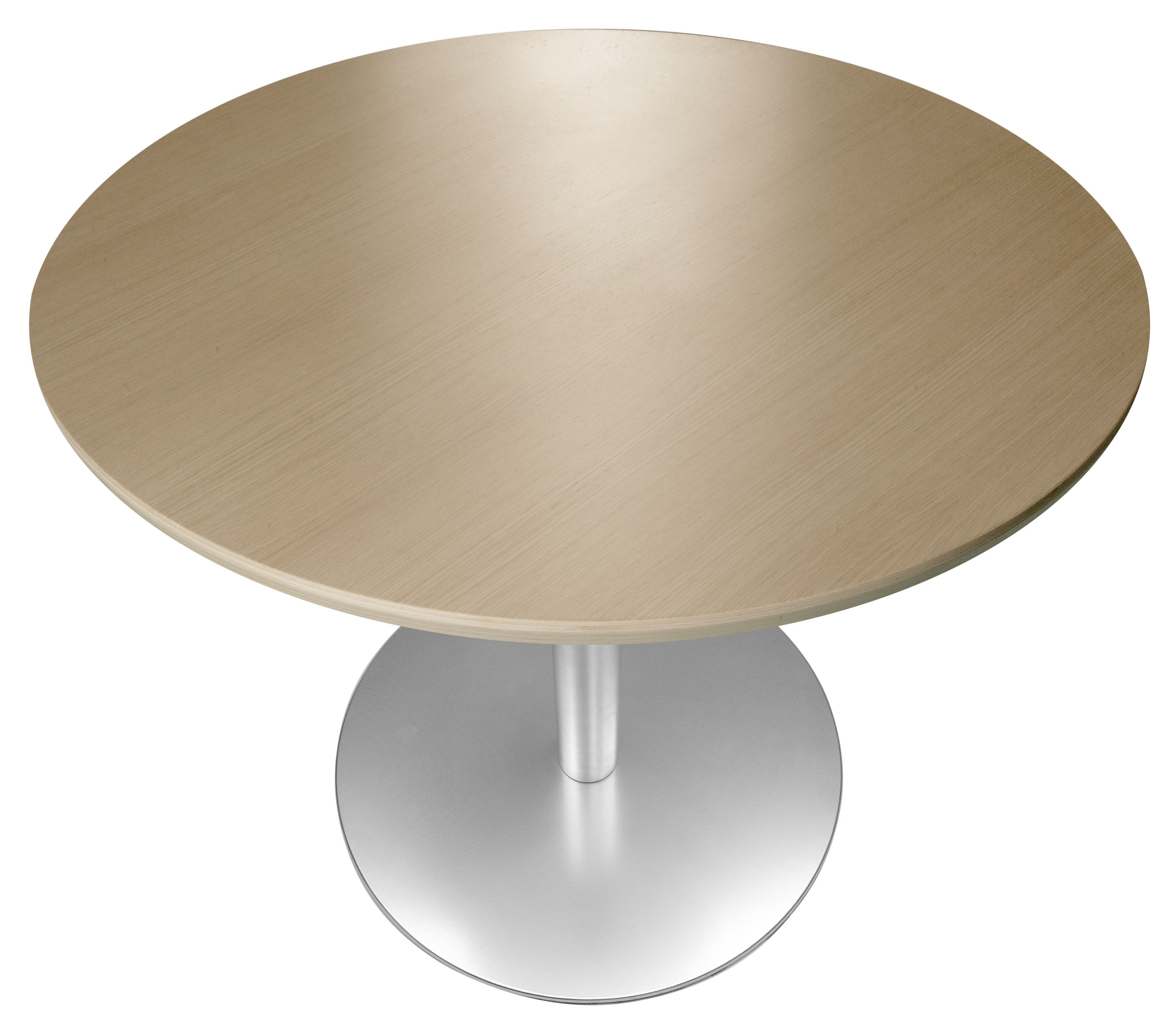 Table hauteur r glable rondo 90 cm ch ne blanchi for Table design hauteur 90 cm
