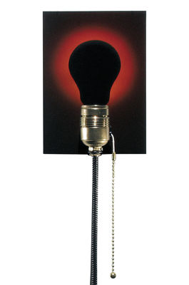 Lighting - Wall Lights - Dead Bulb Alive Wall light with plug by Ingo Maurer - Black bulb hologram / Black cable - Brass, Glass