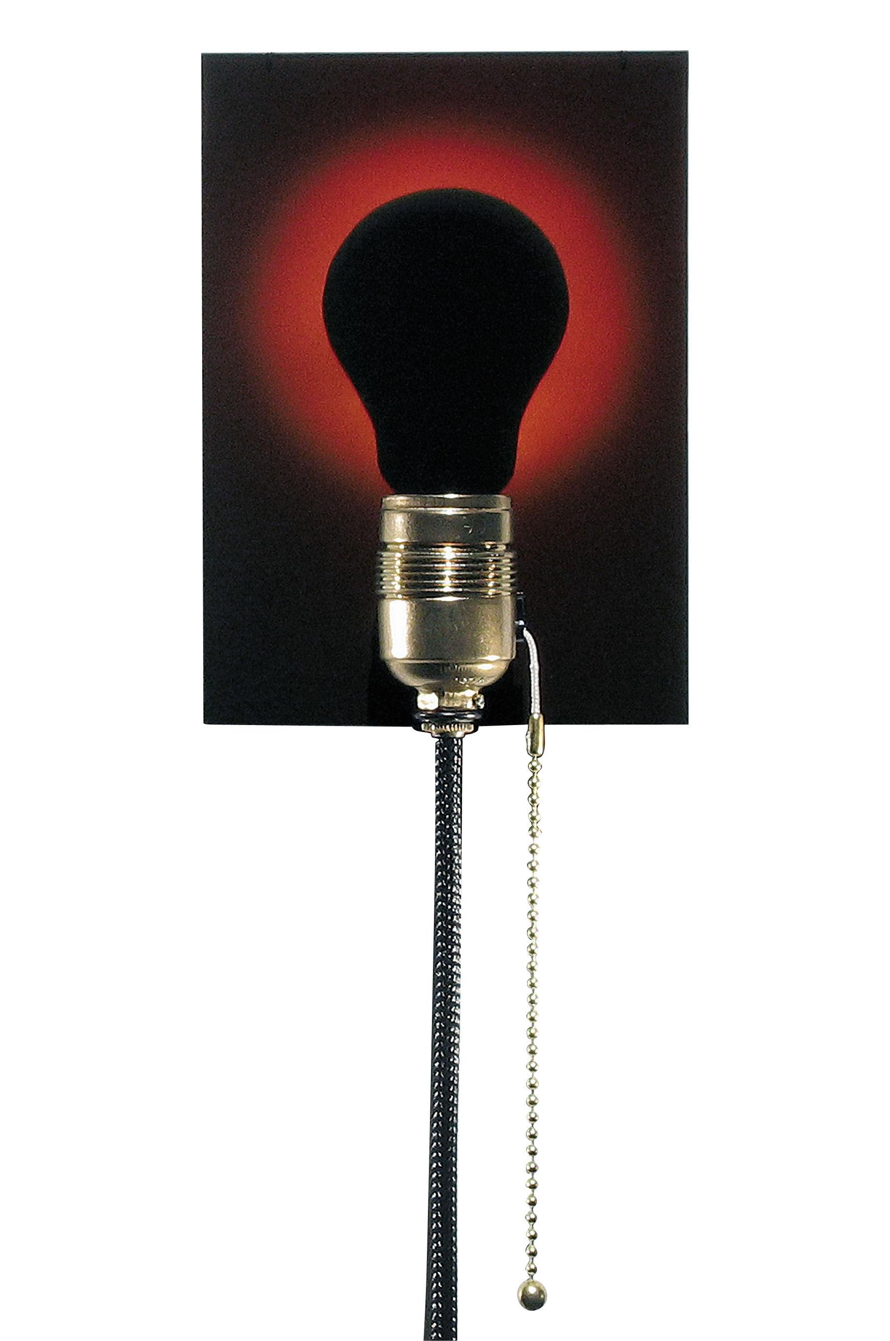 dead bulb alive wandleuchte mit stromkabel hologramm schwarze gl hbirne kabel schwarz by ingo. Black Bedroom Furniture Sets. Home Design Ideas
