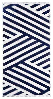 Drap de bain Montauk / 90 x 175 cm - Coton éponge - Sunnylife blanc,bleu en tissu