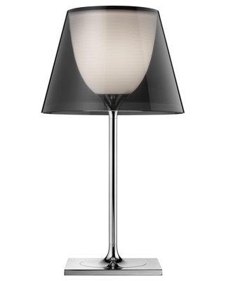 Leuchten - Tischleuchten - K Tribe T1 Tischleuchte H 56 cm - Flos - Rauchglas-Optik - PMMA, Polykarbonat, verchromtes Metall