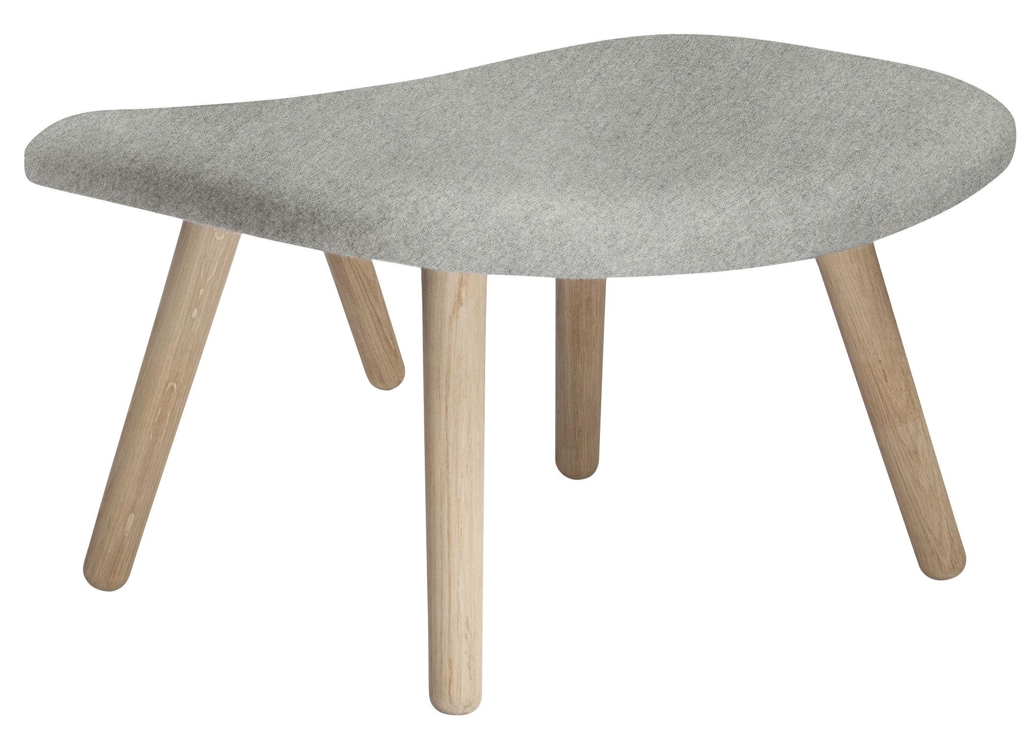 pouf about a lounge tissu hallingdal tissu gris clair pieds bois naturel hay. Black Bedroom Furniture Sets. Home Design Ideas