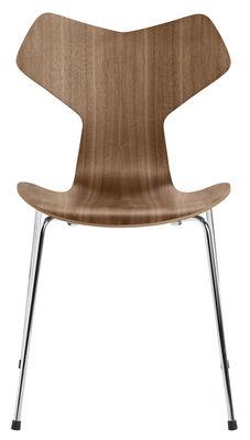 Chaise empilable Grand Prix / Bois naturel - Fritz Hansen noyer naturel en bois