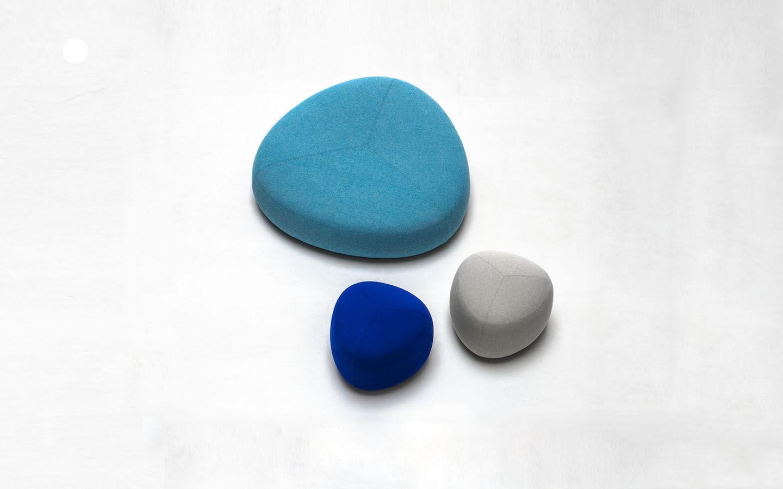 kipu small pouf 57 x 57 cm light grey by lapalma. Black Bedroom Furniture Sets. Home Design Ideas