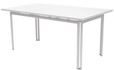 Table Costa / 160 x 80 cm - Fermob blanc coton en métal