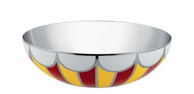 Coupe Circus / Ø 25 cm - Métal - Alessi blanc,jaune,rouge en métal