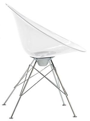 Poltrona Ero/S/ - Trasparente - 4 piedi di Kartell - Trasparente - Materiale plastico