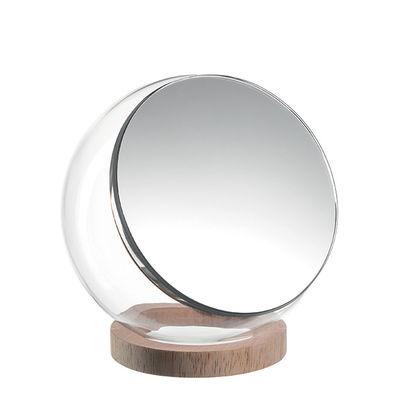 Déco - Boîtes déco - Boîte Bella / Miroir orientable - Verre & bois - Leonardo - Transparent / Bois - Bois, Miroir, Verre