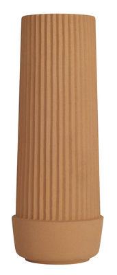 Déco - Vases - Vase Pleated / Ø 11 x H 30 cm - Terre cuite - Umbra Shift - Terracotta - Terre cuite
