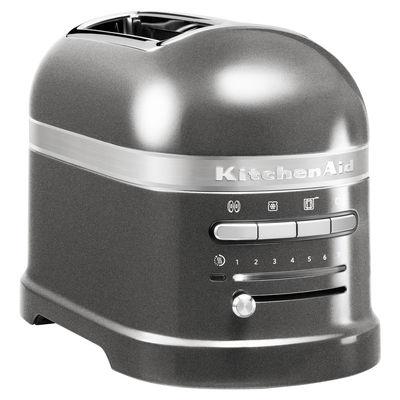 Grille pain Artisan 2 tranches Capteur de chaleur électronique KitchenAid gris étain en métal