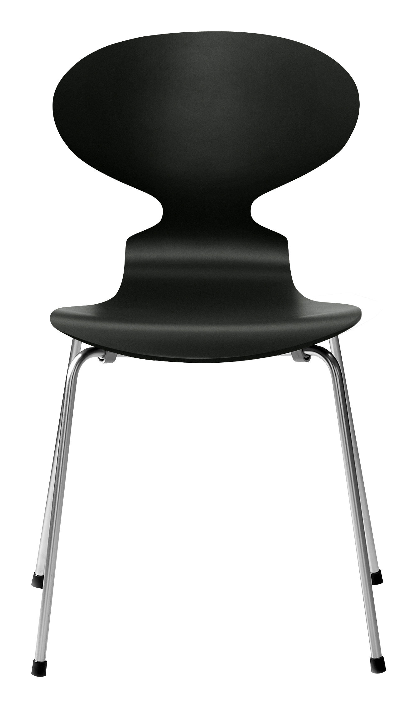Chaise empilable fourmi bois laqu laqu noir fritz hansen for Chaise fourmi