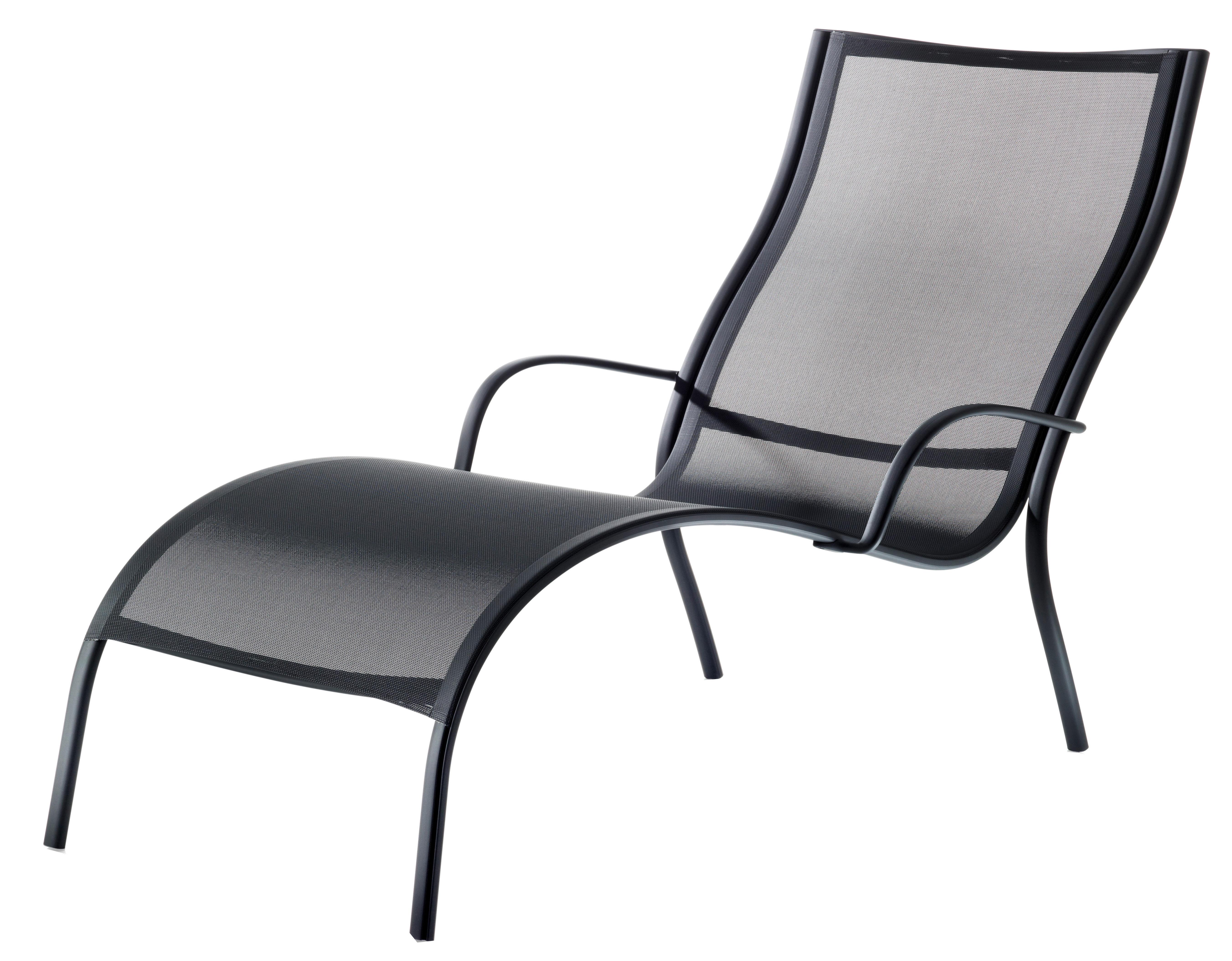 Chaise longue paso doble noir structure noire magis for Chaise longue noire