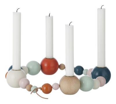Foto Candeliere String - modulabile - L 85 cm di Ferm Living - Multicolore - Legno