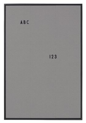 Tableau memo A2 L 42 x H 59 cm Design Letters gris foncé en matière plastique