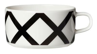 Arts de la table - Tasses et mugs - Tasse à thé Spaljé - Marimekko - Spaljé / Noir & blanc - Grès