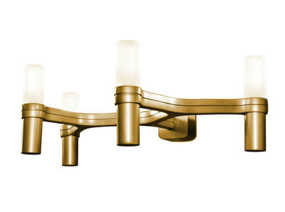 Luminaire - Appliques - Applique Crown / L 48 cm - Nemo - Or - Fonte d'aluminium peinte, Verre opalin