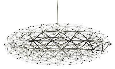 Luminaire - Suspensions - Suspension Raimond Zafu LED / Ø 75 cm - Moooi - Acier - Acier inoxydable, Aluminium, PMMA