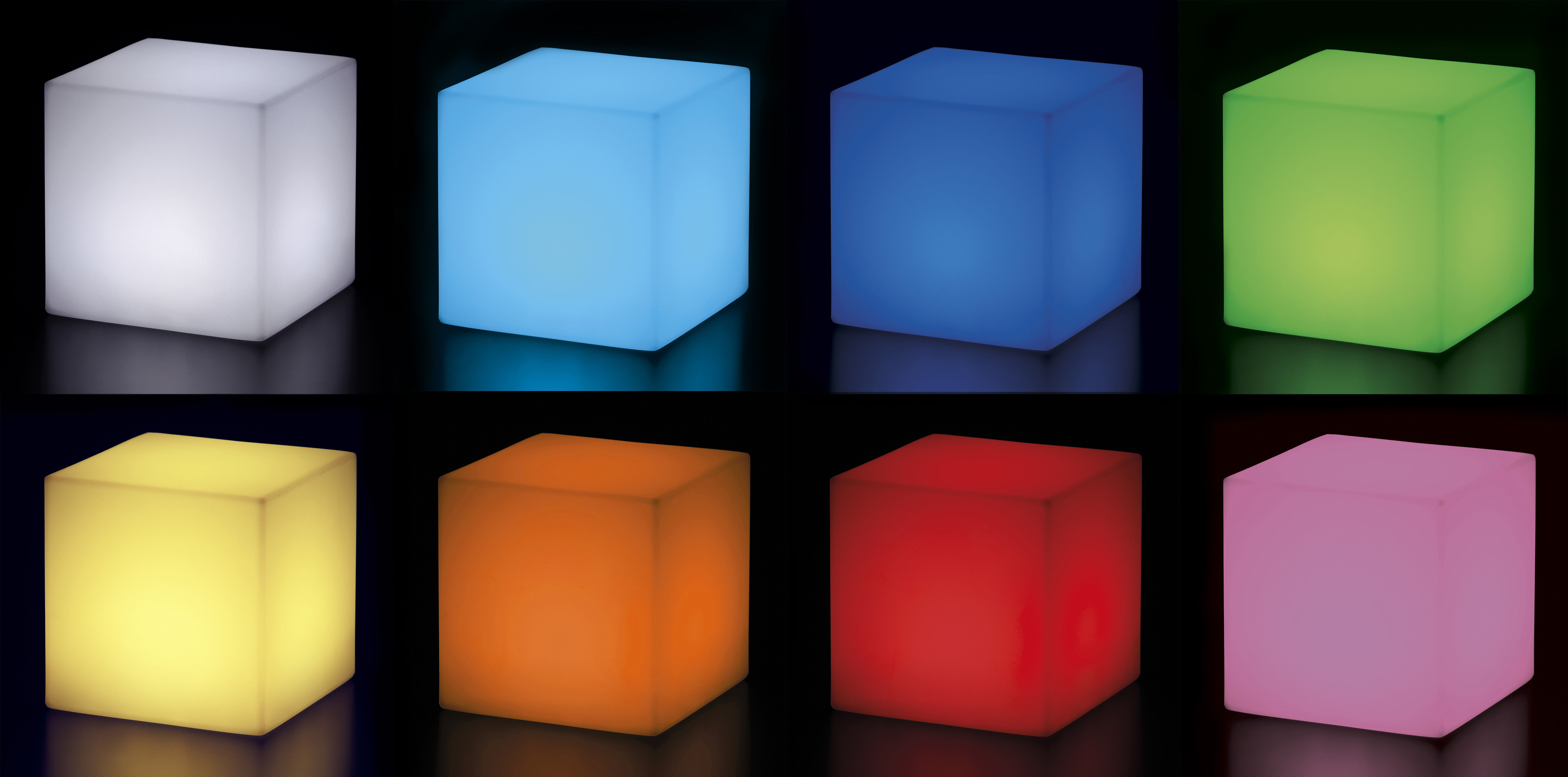 cubo outdoor led kabellos 25 x 25 x 25 cm f r den. Black Bedroom Furniture Sets. Home Design Ideas
