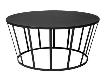 Tavolino basso Hollo / Ø 70 x H 33 cm - Petite Friture - Nero - Metallo