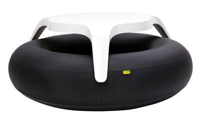 Set table & bancs DoNuts / Gonflable - Ø 190 cm - Blofield blanc,noir en matière plastique
