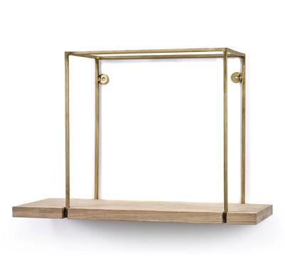Mobilier - Etagères & bibliothèques - Etagère Hang Rack Small / L 45 x H 30 cm - Serax - H 30 cm  / Bois & cuivre - Bois, Cuivre