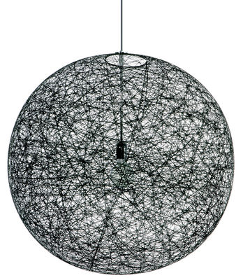 Luminaire - Suspensions - Suspension Random Light / Small - Ø 50 cm - Moooi - Noir - Fibre de verre