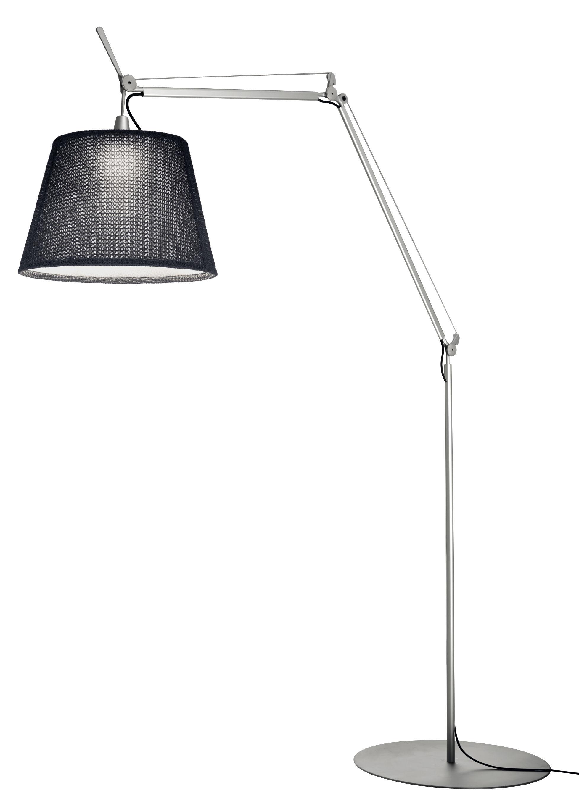 tolomeo paralume stehleuchte outdoorgeeignet led h 132 bis 298 cm grau by artemide made. Black Bedroom Furniture Sets. Home Design Ideas