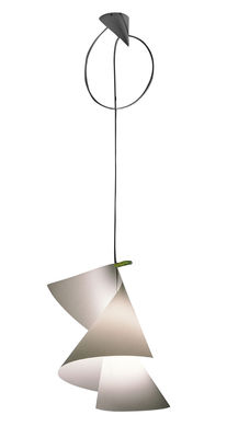 Lighting - Suspensions - WillyDilly Pendant by Ingo Maurer - Translucent white - Cardboard