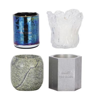 Bougie parfumée Materialism / Coffret 4 bougies - Tom Dixon vert,transparent,métal,bleu iridescent en métal