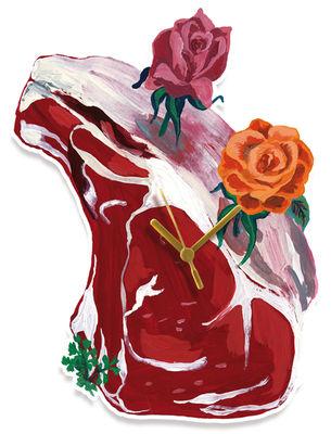 Image of Orologio murale Pièce de boucher di Domestic - Rosso - Materiale plastico