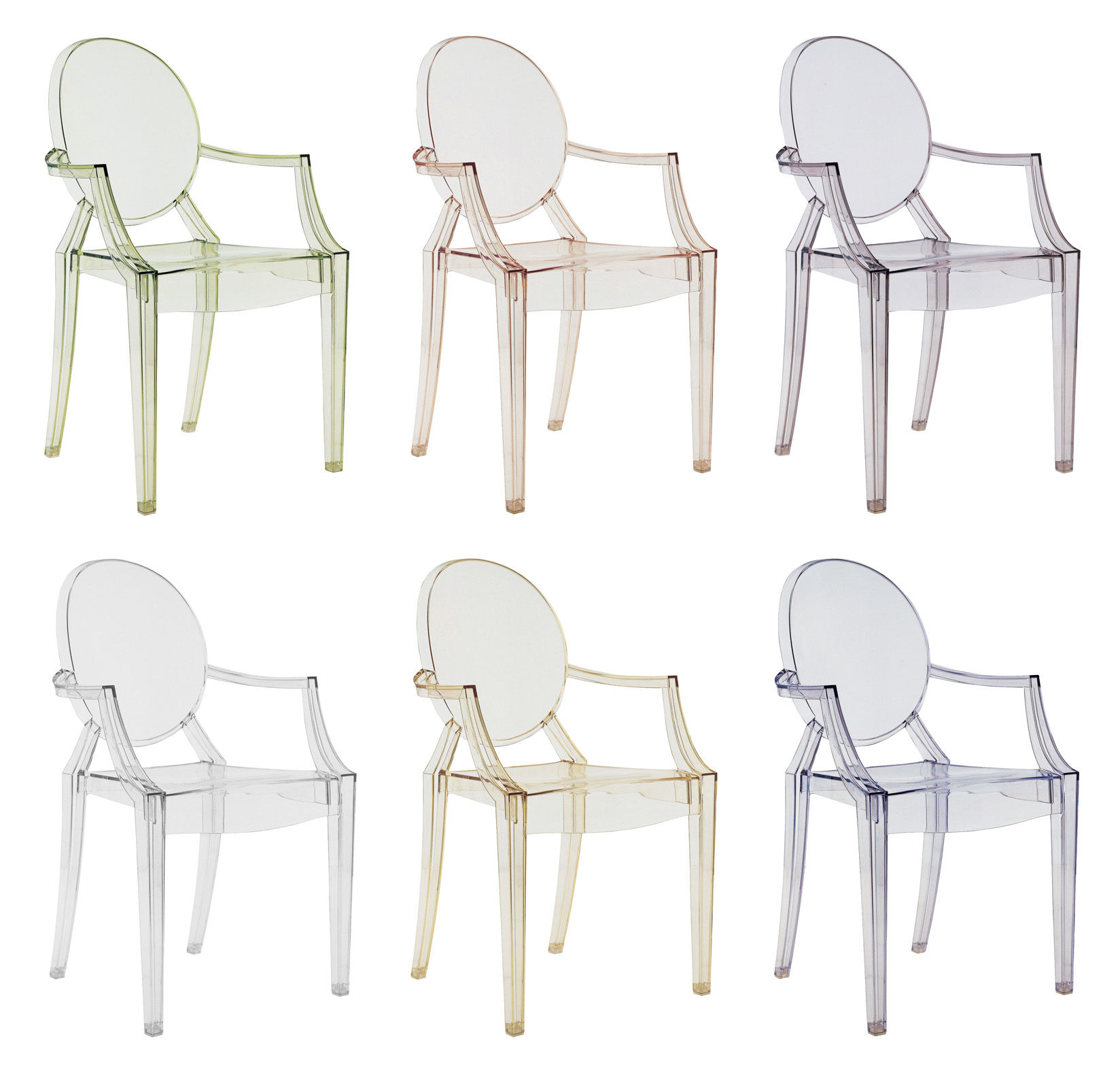 louis ghost stackable armchair transparent polycarbonate transparent crystal by kartell. Black Bedroom Furniture Sets. Home Design Ideas