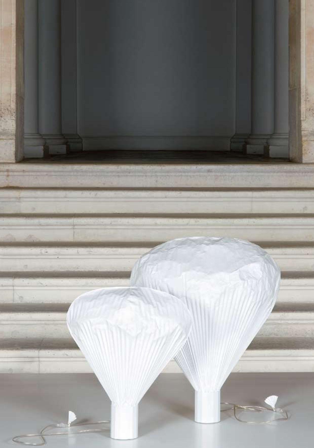 Lampe de sol vapeur h 85 cm h 85 cm blanc moustache for Table 85 cm de large