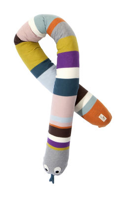 Decoration - Children's Home Accessories - Mr Snake Cushion by Ferm Living - Multicoloured - Organic cotton